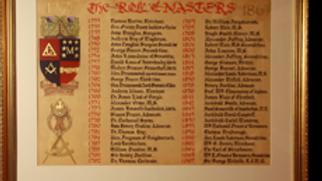 The Masters Roll Board 1733 – 1867 (Miniature)