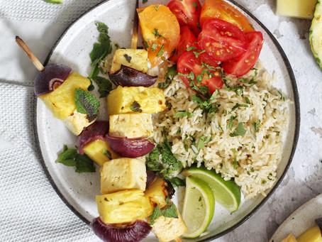 Tofu Pineapple Skewers