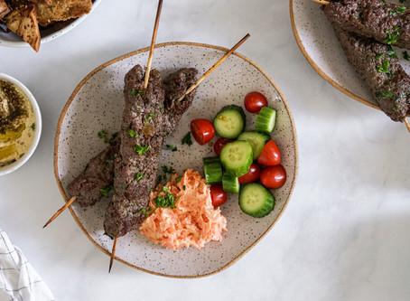 Vegan Turkish Style Adana Kebab