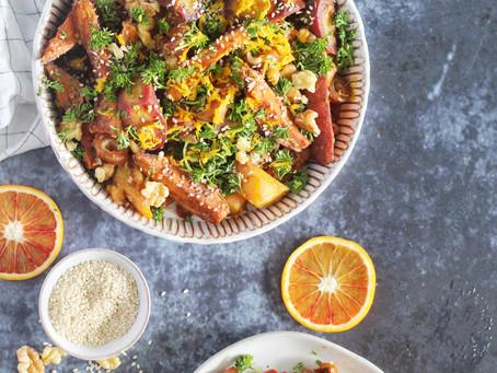 Sweet Potato Sesame Date Tzimmes