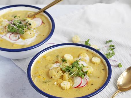 Creamy Vegan Corn Chowder
