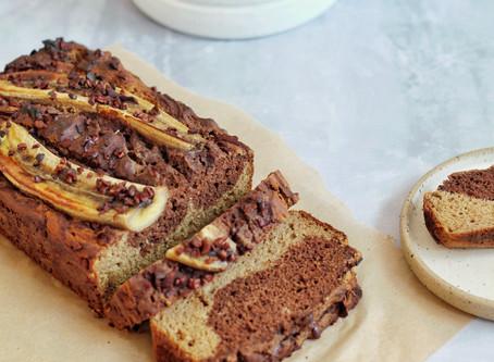 Marbled Teff Banana Bread