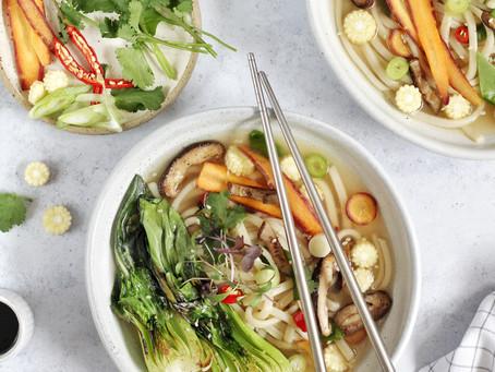 Veggie Udon Noodle Soup