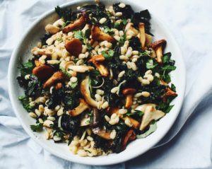 Herby Mushroom Barley Salad