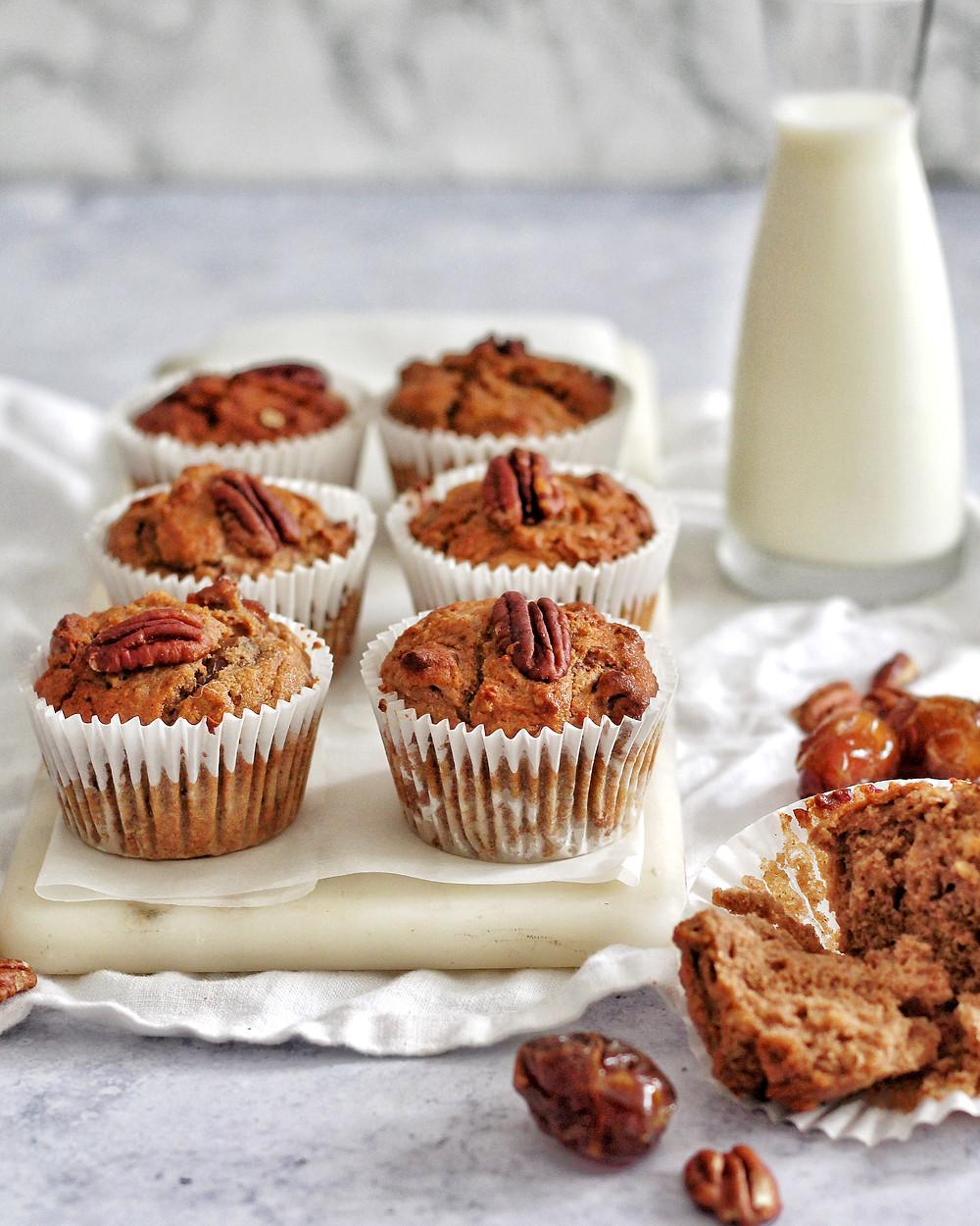 Pecan Chestnut Flour Muffins