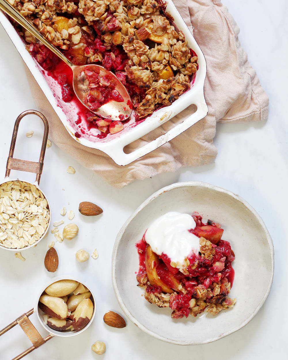 Nectarine and Raspberry Crumble Recipe