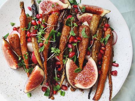 Harissa Carrot + Lentil Salad