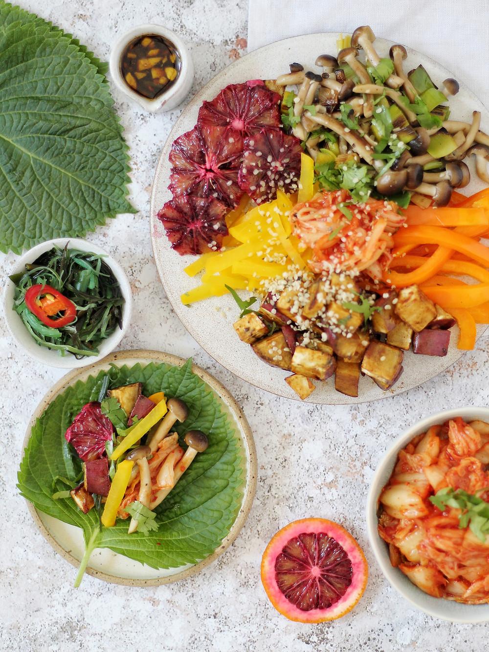 Korean-Inspired Perilla Leaf Tacos Recipe Healthy Fusion