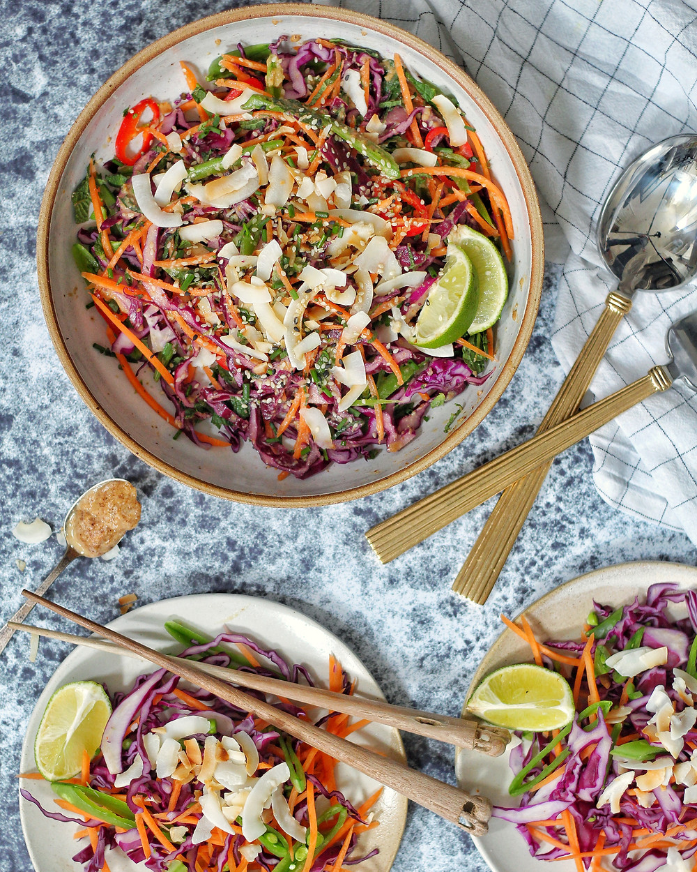 An easy recipe for an almond sesame dressing, perfect for slaw!