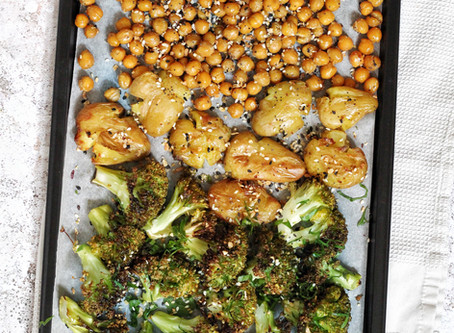 Sheet Pan Meal: Roasted Everything Chickpeas