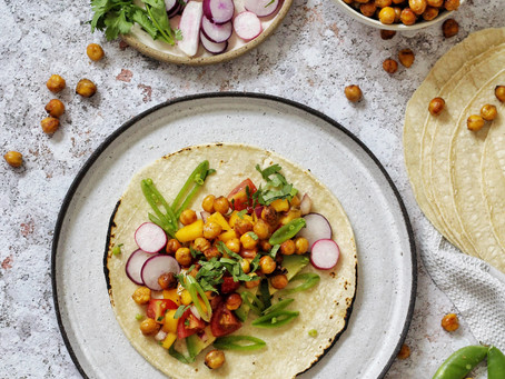 Thai Green Curry Chickpea Tacos