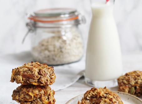 Carrot Kefir Breakfast Cookies