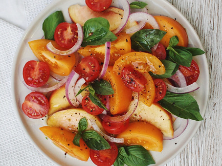 Peach and Tomato Salad
