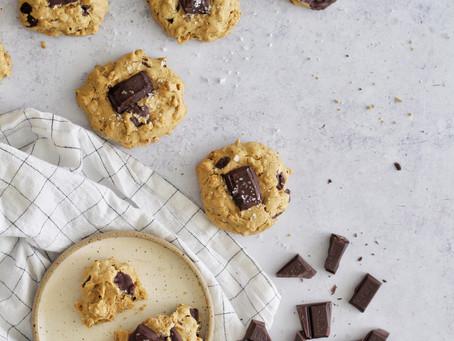 Olive Oil Chocolate Chunk Oatmeal Cookies
