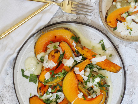 Roasted Pumpkin with Coconut Lime Dressing