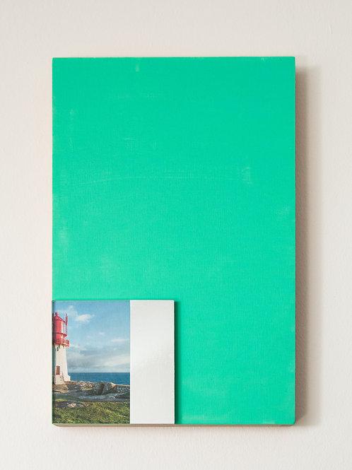 Isidora Kristc  Teal Landscape I