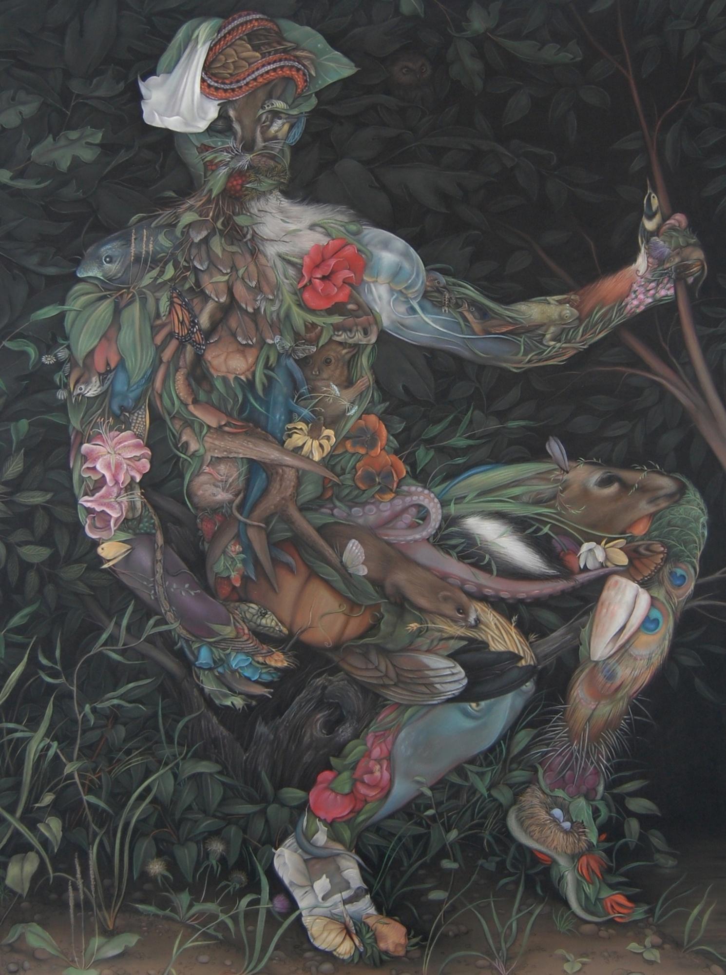 Zachari Logan_Leshy 2_165cm x 127cm_pastel on paper