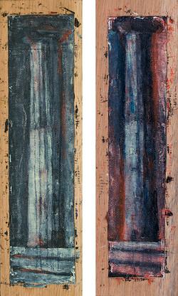 Ciprian Bodea _ Column _ oil on canvas _ 20 x 36 cm _