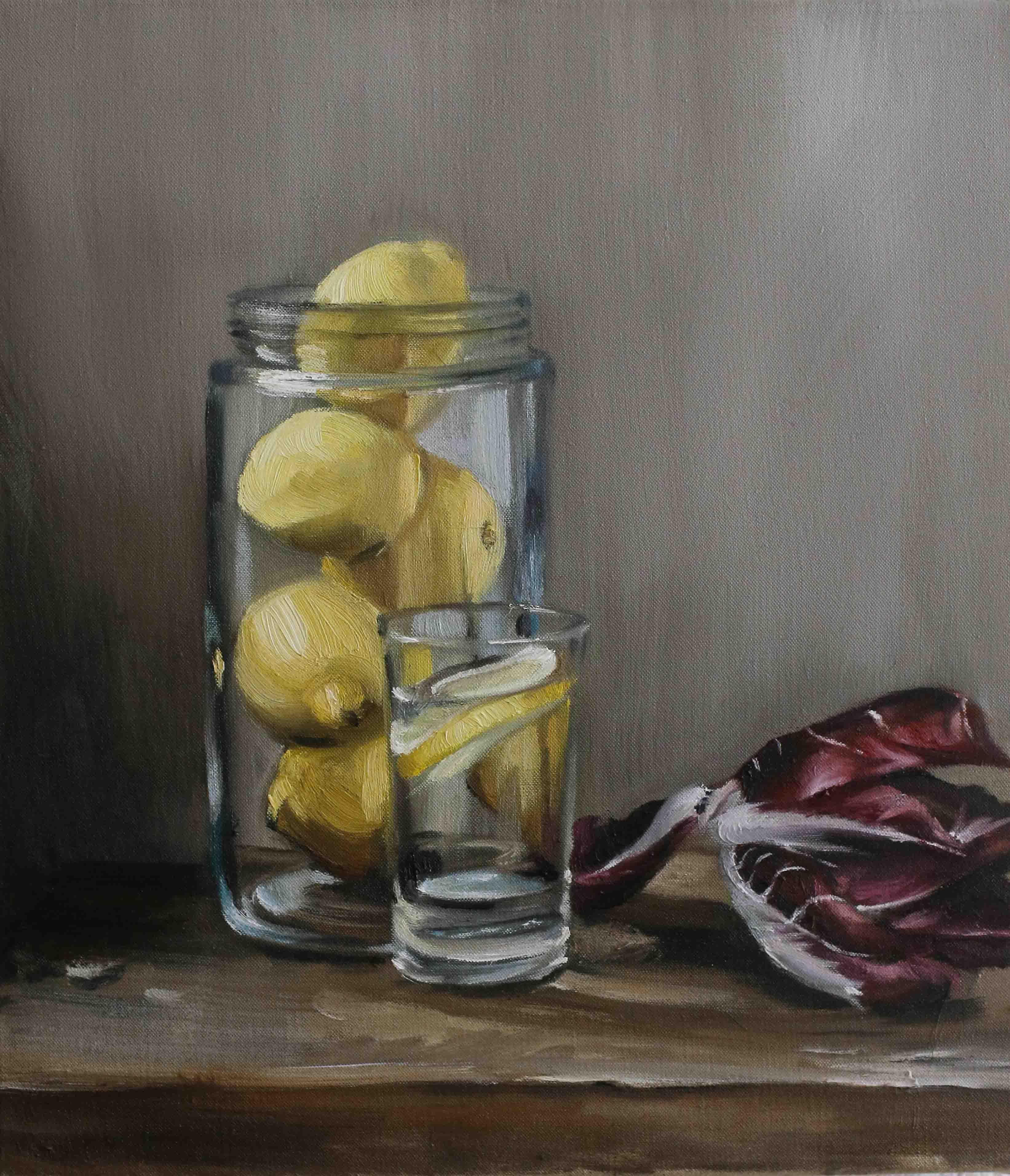 Zitronen und Radicchio
