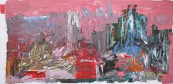 Italian Light VIII, 2016, oil on canvas, 100x205cm