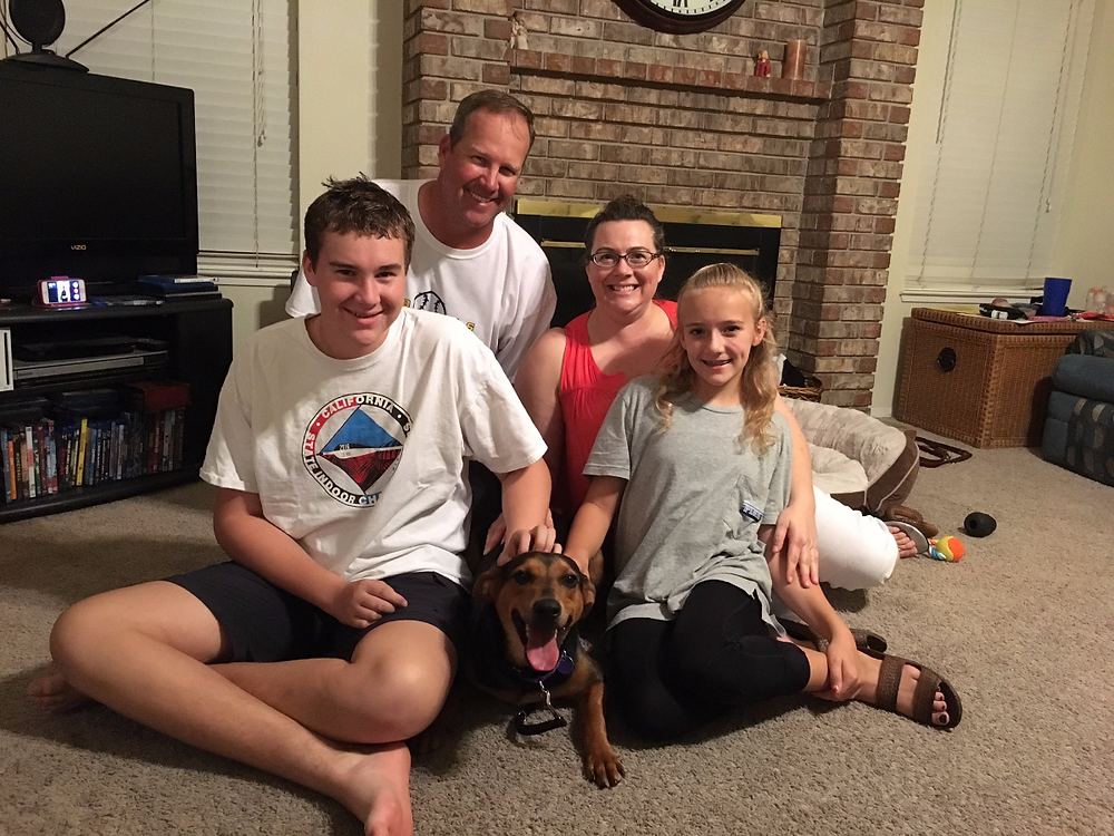 Luca with her new family!