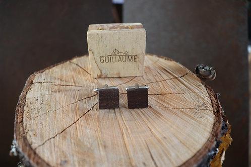 Boutons de Manchette en Bois - Noyer Noir
