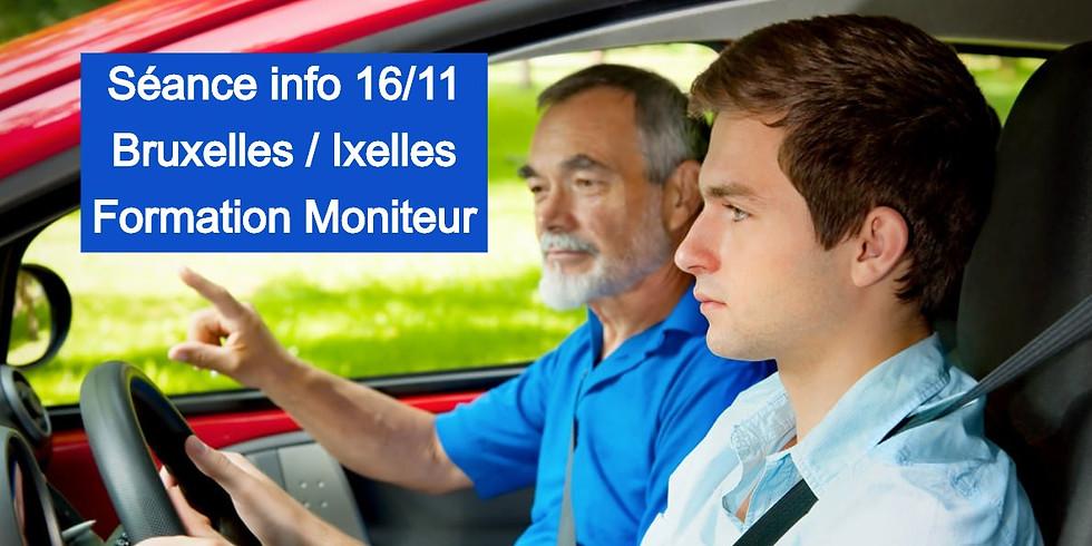 Séances Infos BRUXELLES - Formation Moniteurs 16 Nov