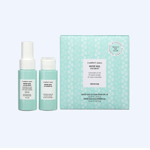 Water Soul eco sun kit : crème SPF 50 (50ml) & eco shower gel