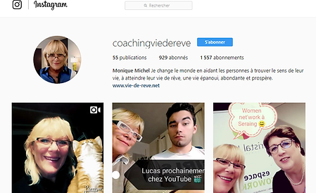 Coaching Vie de Rêve Instagram