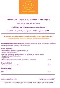 Certificat Constellations Familialles