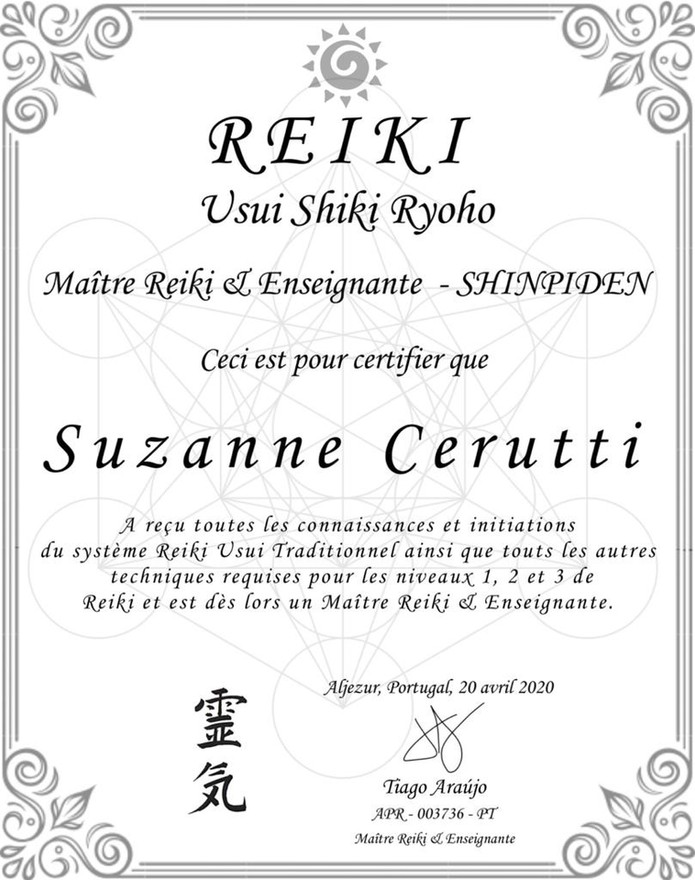 Certificat Reiki
