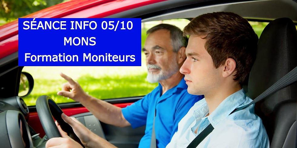 Séances Infos MONS - Formation Moniteurs 05/10