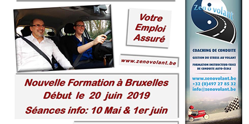 Séances Infos 10/05 Bruxelles / Ixelles - Formation Moniteurs