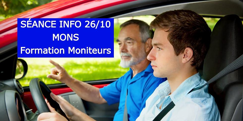 Séances Infos MONS - Formation Moniteurs 26/10
