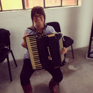 Picking my accordion out at the Borsini factory in Castelfidardo, IT