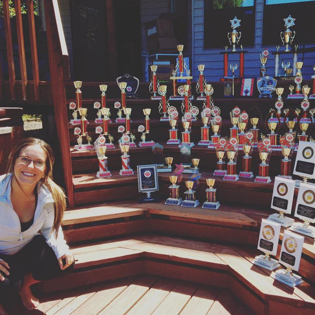 Collection of trophies won