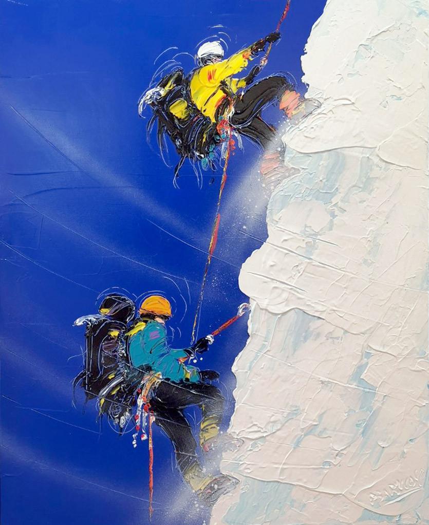 peinture acryloique du peintre Pierre Barillot
