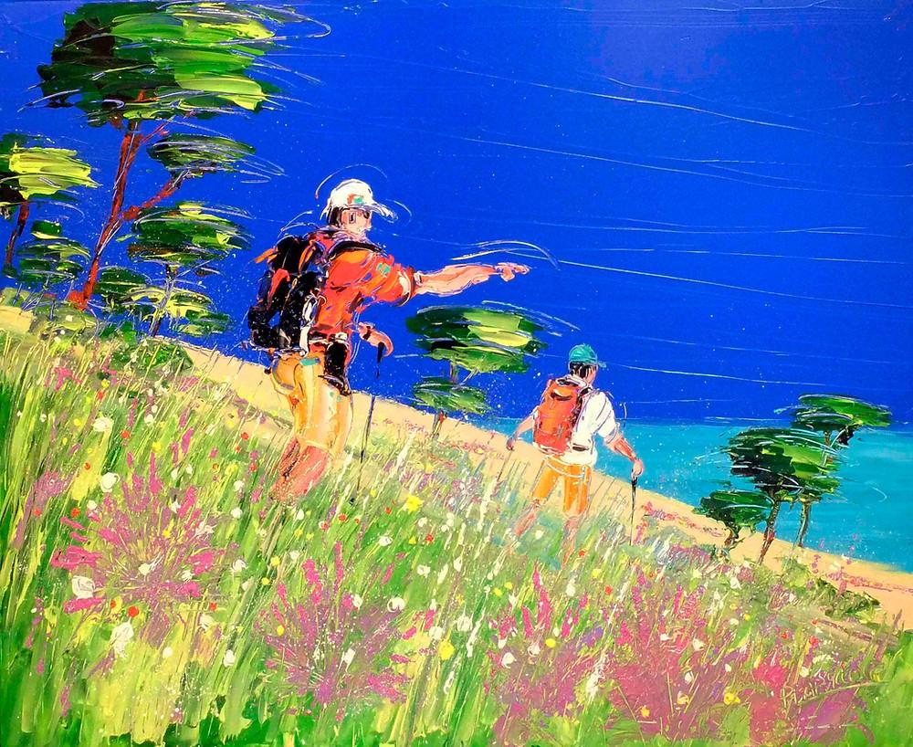 peinture acrylique du peintre Pierre Barillot