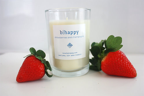 8.5oz Strawberries & Champagne Soy Candle