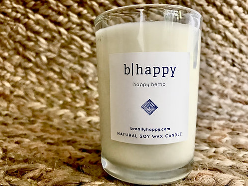 8.5oz Happy Hemp Soy Candle