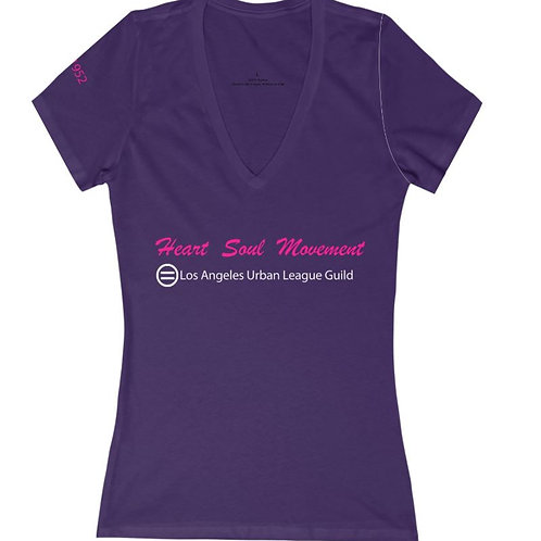 "Women's Purple Tee ""Heart    Soul   Movement"""