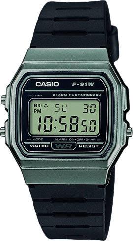 Часы Наручные CASIO F-91WM-1B