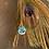 Thumbnail: 16mm Perle mit Muttermilch und Plazenta und Vergissmeinnicht - 9kt Öse