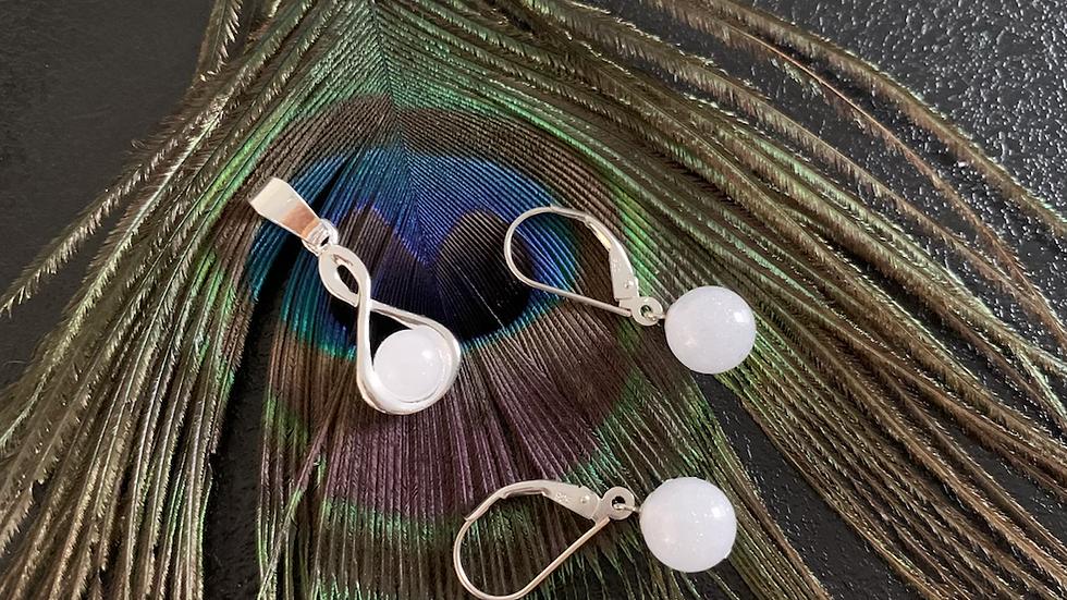 Pendelperlenohrgehänge mit 8mm Perlen