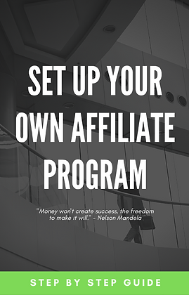 Set up your own affiliate program
