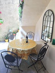 Exterior de la cuisine, Gite Maison En Pierre, Olonzac