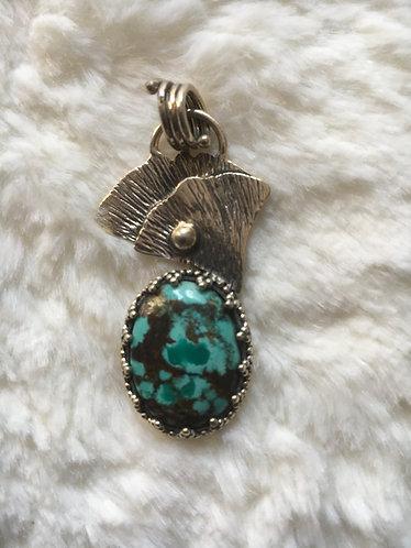 Pendentif Turquoise tibétaine