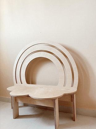 ספסל קשת עץ גלוי