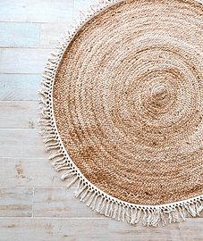 שטיח קש עגול גדול