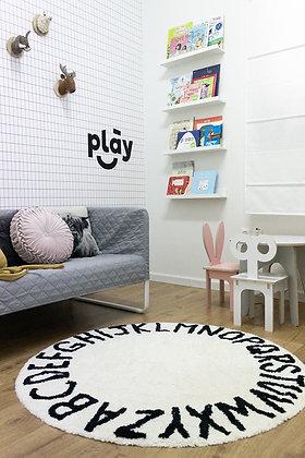 שטיח ABC שחור לבן